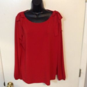 CUPIO size L Red 95% polyester 5% spandex top